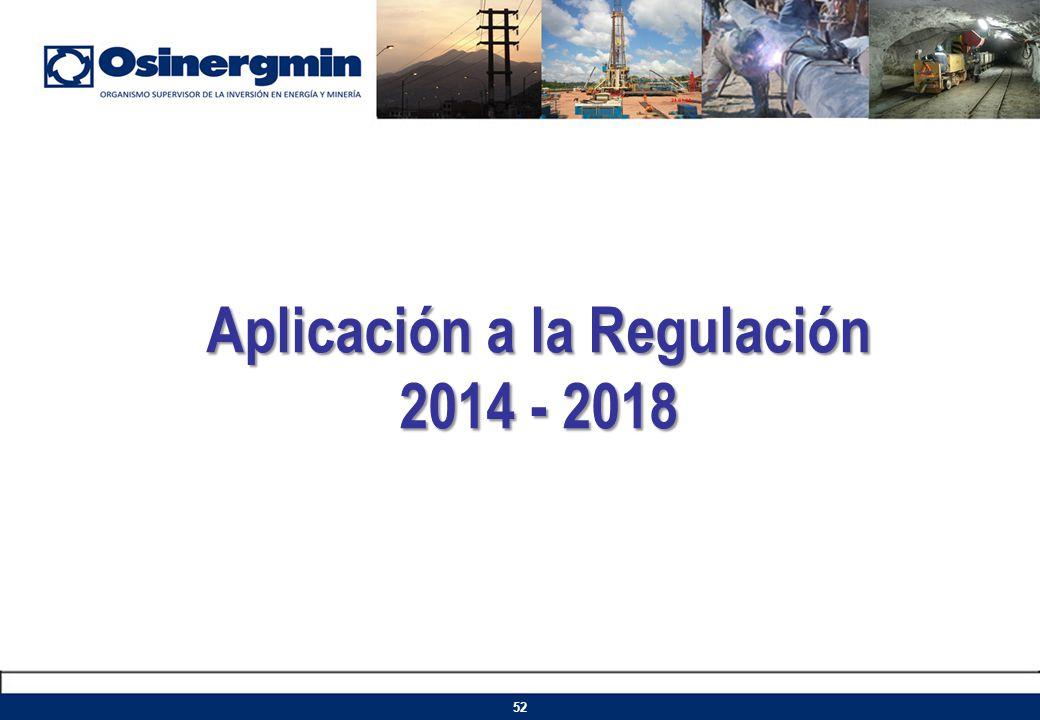 Aplicación a la Regulación 2014 - 2018 52