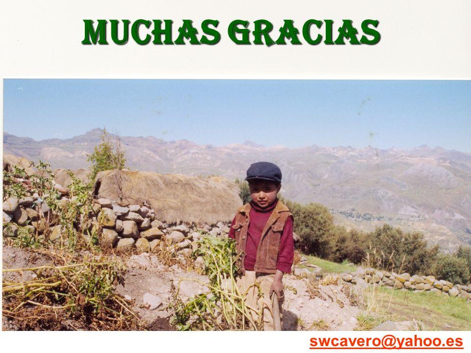 MUCHAS GRACIAS swcavero@yahoo.es
