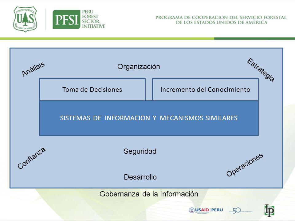 Toma de DecisionesIncremento del Conocimiento SISTEMAS DE INFORMACION Y MECANISMOS SIMILARES Confianza Estrategia Seguridad Análisis Organización Oper