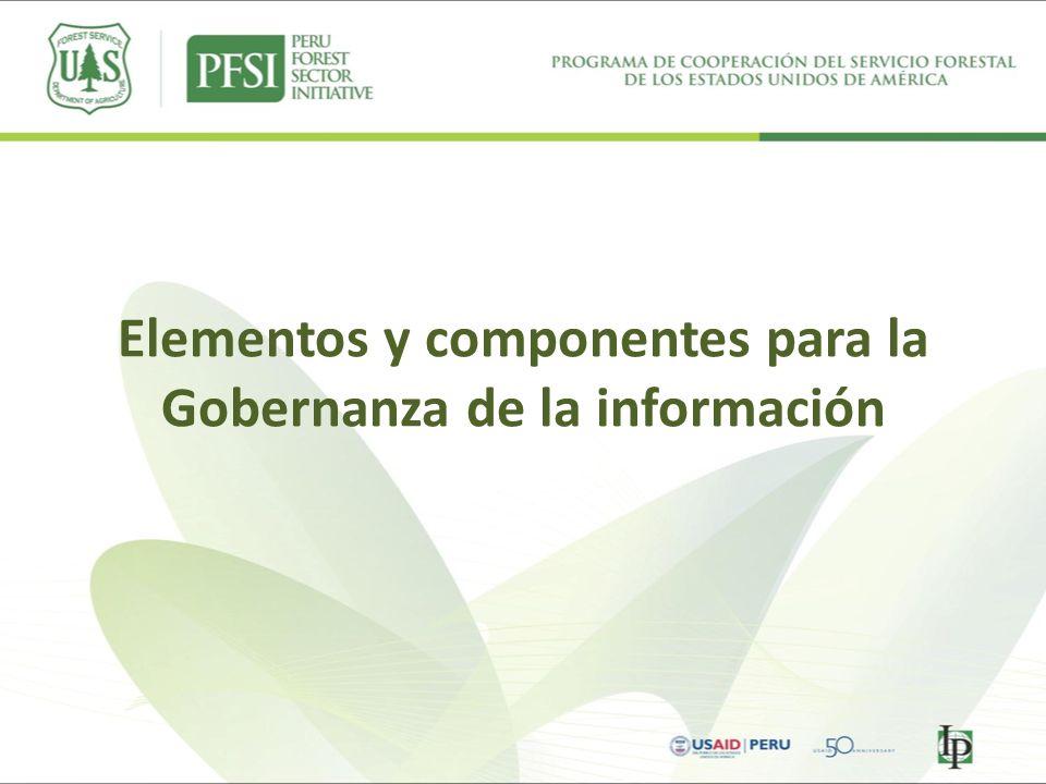 Elementos y componentes para la Gobernanza de la información