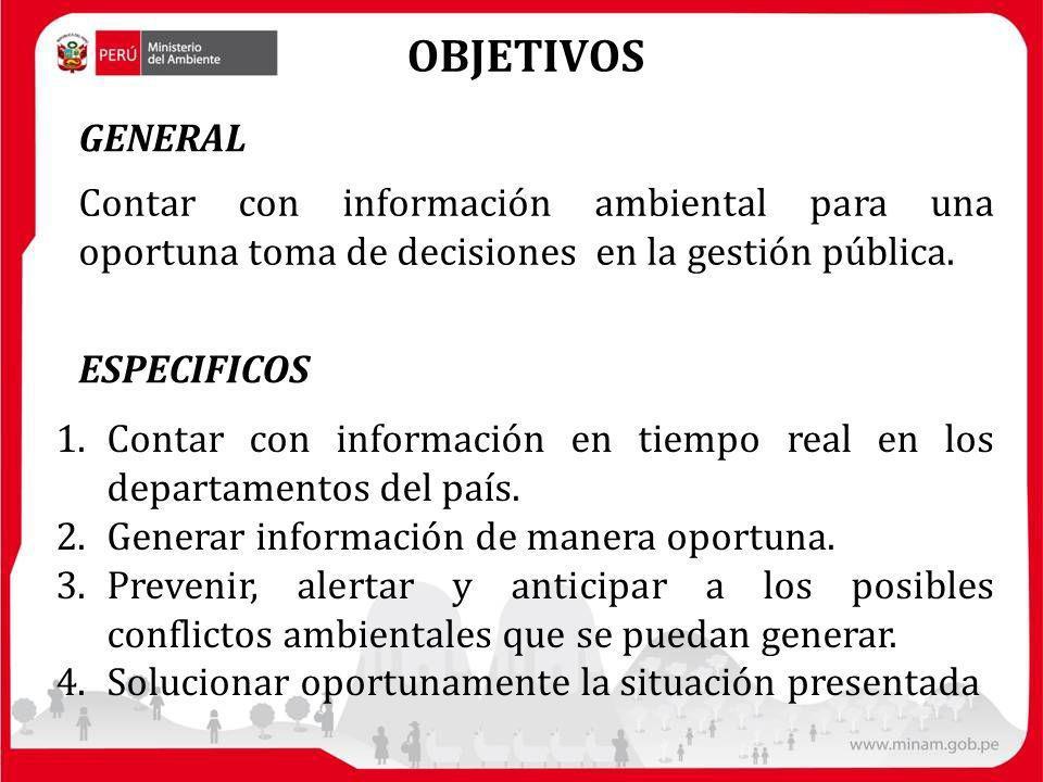 1.Contar con información en tiempo real en los departamentos del país.