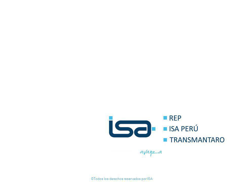 ©Todos los derechos reservados por ISA 32 ©Todos los derechos reservados por ISA