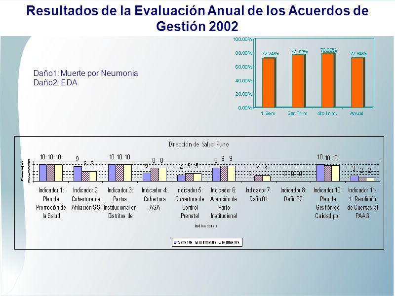Daño1: Muerte por Neumonia Daño2: EDA Resultados de la Evaluación Anual de los Acuerdos de Gestión 2002