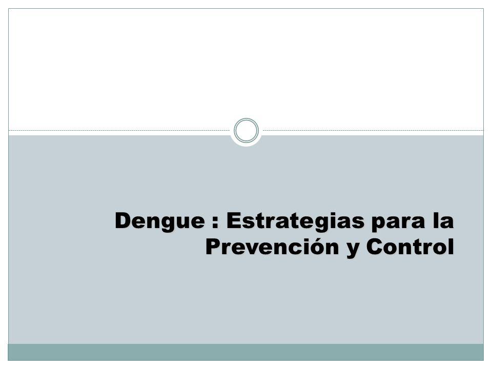 Dengue : Estrategias para la Prevención y Control