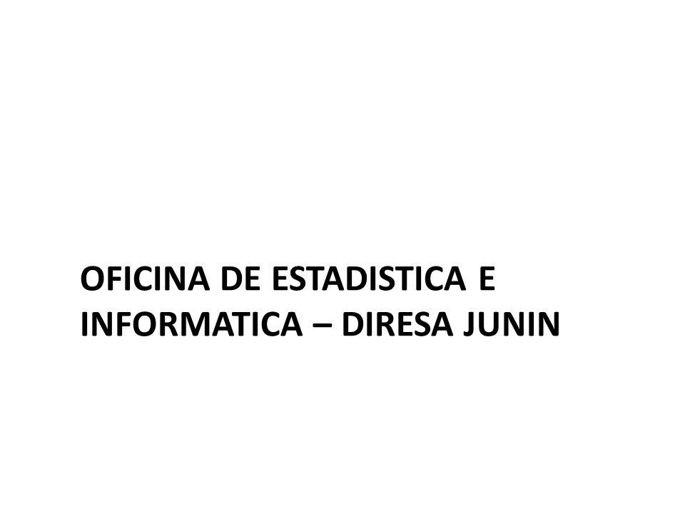 OFICINA DE ESTADISTICA E INFORMATICA – DIRESA JUNIN