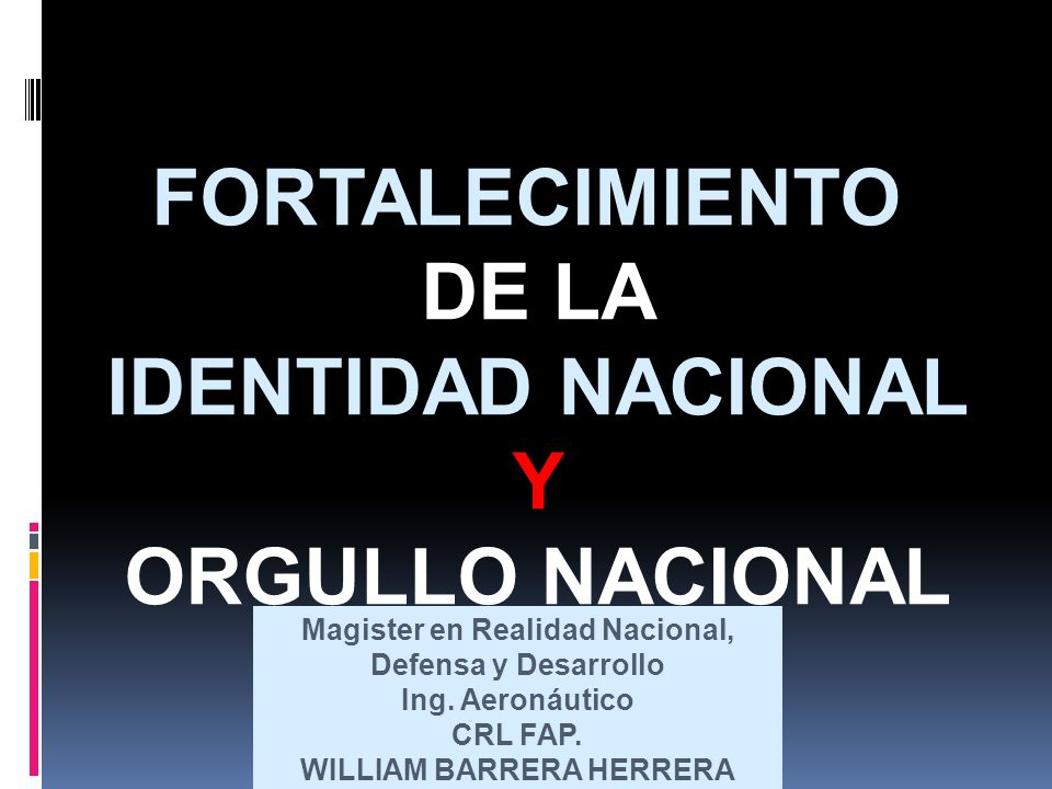 Magister en Realidad Nacional, Defensa y Desarrollo Ing.