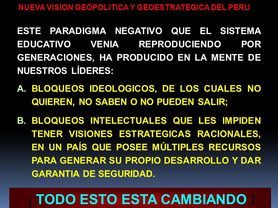 COSTOS PARA EL PERU POR LA CARENCIA DE UNA VISION GEOPOLITICA EN LO TERRITORIAL, HABER PERDIDO APROX. 700,000 Km2. EN LO ECONOMICO, HABER HECHO UN USO
