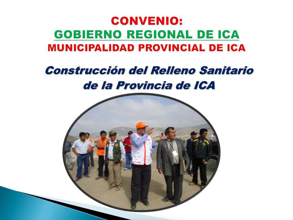 Construcción del Relleno Sanitario de la Provincia de ICA