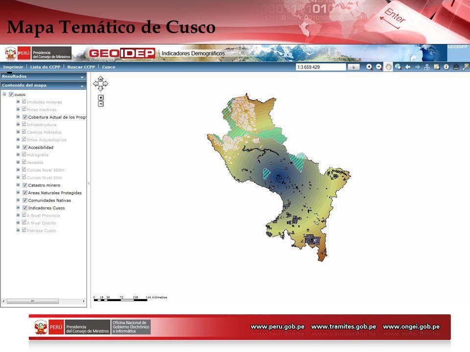 Mapa Temático de Cusco -