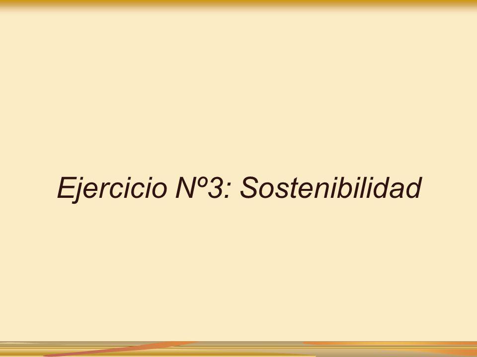 Ejercicio Nº3: Sostenibilidad