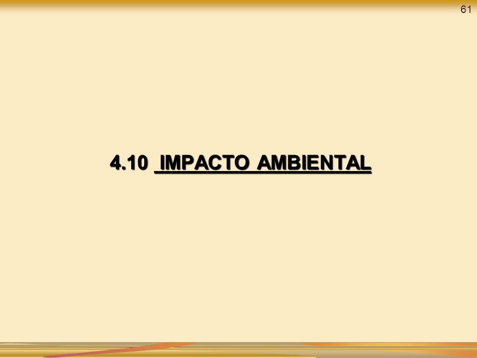 4.10 IMPACTO AMBIENTAL 61