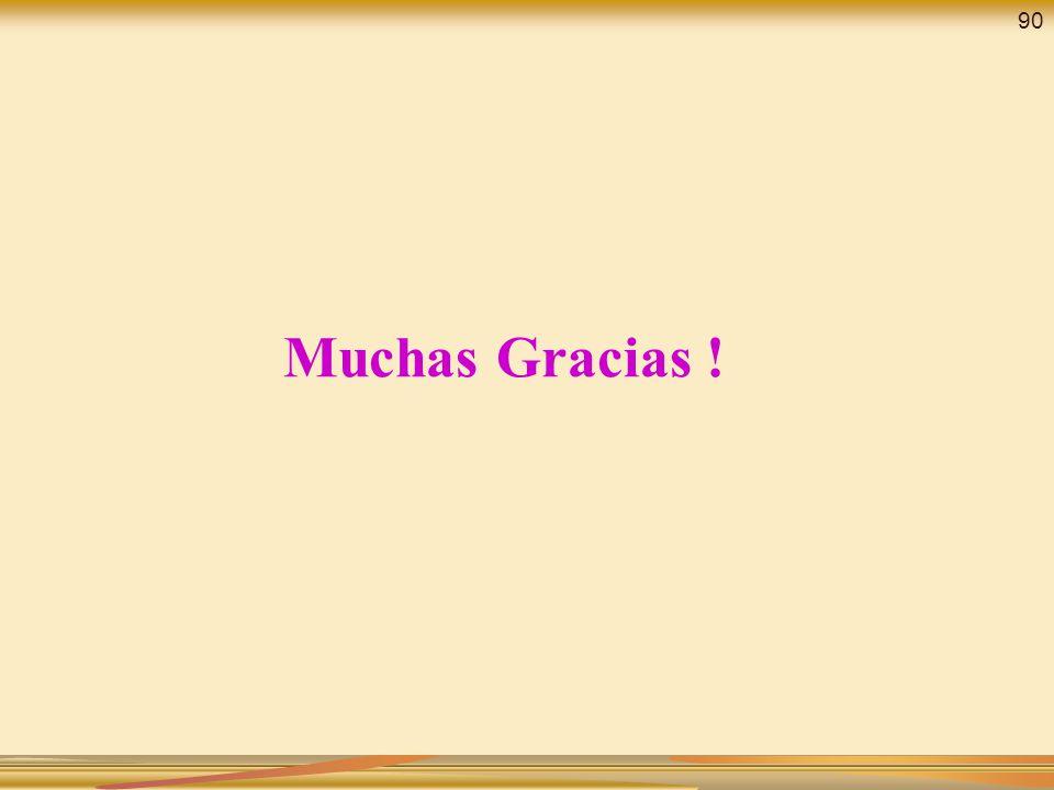 Muchas Gracias ! 90
