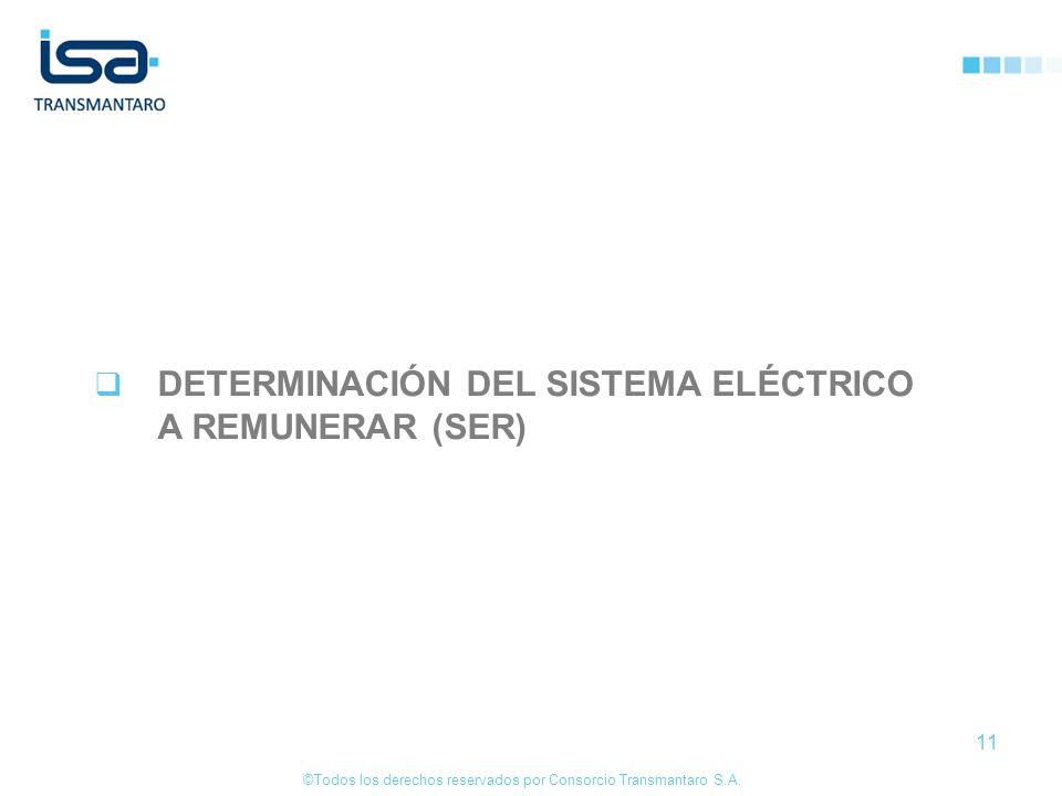 ©Todos los derechos reservados por Consorcio Transmantaro S.A. 11 DETERMINACIÓN DEL SISTEMA ELÉCTRICO A REMUNERAR (SER)