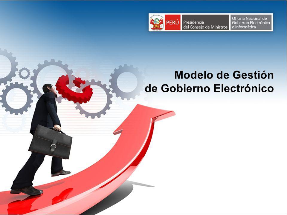 Modelo de Gestión de Gobierno Electrónico