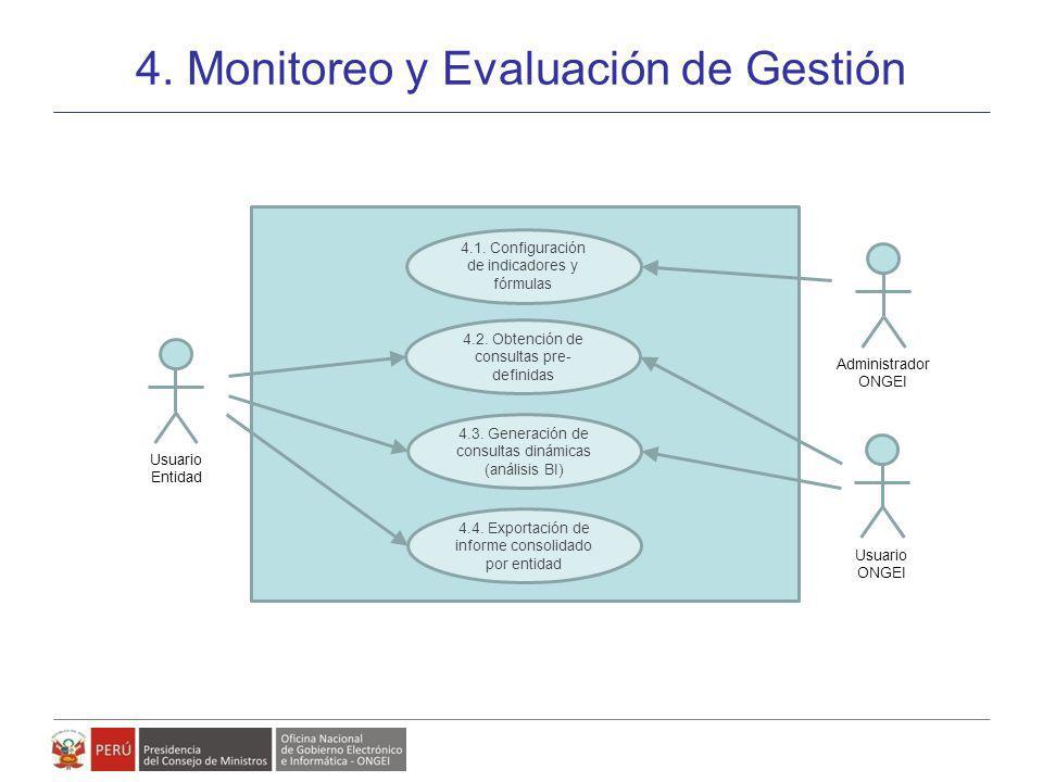 Modelo de Gestión de Políticas, Planes y Proyectos de Gobierno Electrónico 4. Monitoreo y Evaluación de Gestión 26 4.1. Configuración de indicadores y