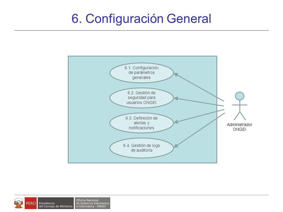 Modelo de Gestión de Políticas, Planes y Proyectos de Gobierno Electrónico 6. Configuración General 28 6.1. Configuración de parámetros generales 6.3.