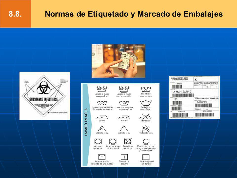 Normas de Etiquetado y Marcado de Embalajes8.8.