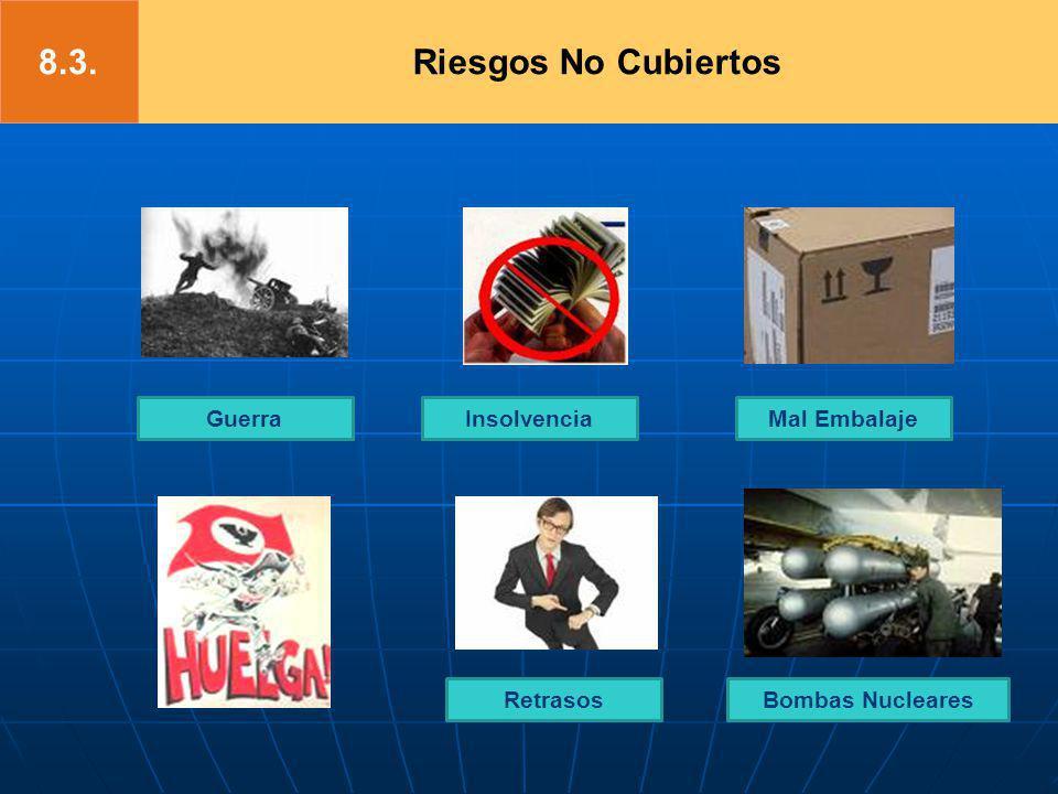 GuerraMal EmbalajeInsolvencia Bombas NuclearesRetrasos Riesgos No Cubiertos8.3.