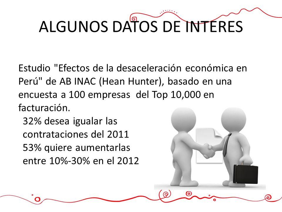 ALGUNOS DATOS DE INTERES Estudio