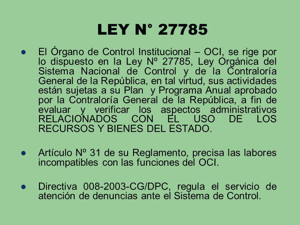 PROCEDIMIENTO DE ATENCION A DENUNCIAS Y RECLAMOS A PARTIR DE LA VIGENCIA DE LA LEY Nº 27785 Y SUS NORMAS COMPLEMENTARIAS