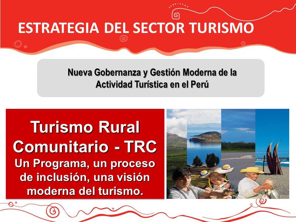 ESTRATEGIA DEL SECTOR TURISMO 4 MULTITEMATICO Nueva Gobernanza y Gestión Moderna de la Actividad Turística en el Perú Turismo Rural Comunitario - TRC