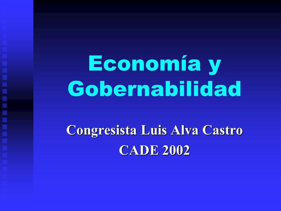 Economía y Gobernabilidad Congresista Luis Alva Castro CADE 2002
