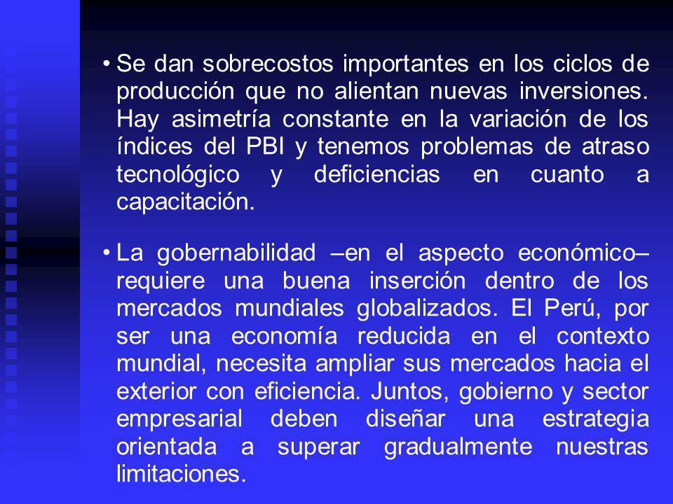 En 1992 el Perú cometió el gravísimo error de liquidar el Instituto Nacional de Planificación, renunciando con ello a diseñar planes estratégicos de desarrollo económico y social que puedan ser concertados entre el Estado y los productores.