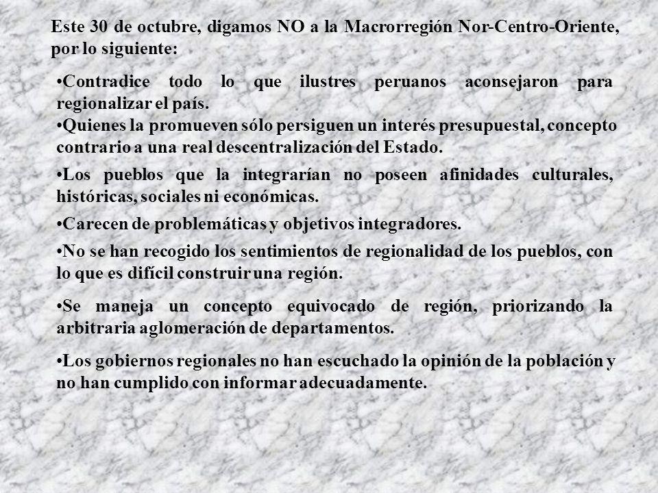 ¿Luego de ver lo que aconsejaron estos sabios pensadores peruanos, crees que unir los departamentos de Junín, Pasco, Huánuco, Áncash y Lima provincias será lo más adecuado para generar nuestro desarrollo?