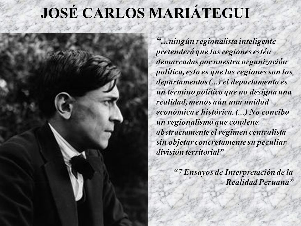 JOSÉ CARLOS MARIÁTEGUI...
