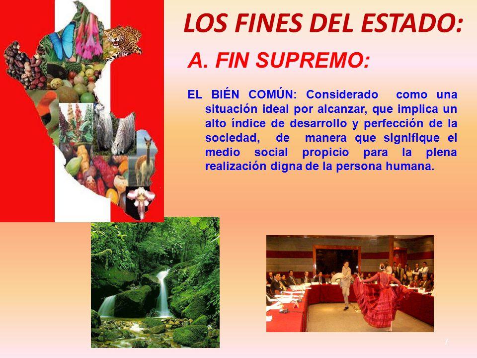 LOS FINES DEL ESTADO: 7 A.