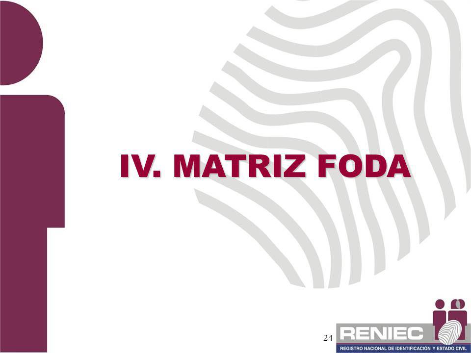 24 IV. MATRIZ FODA