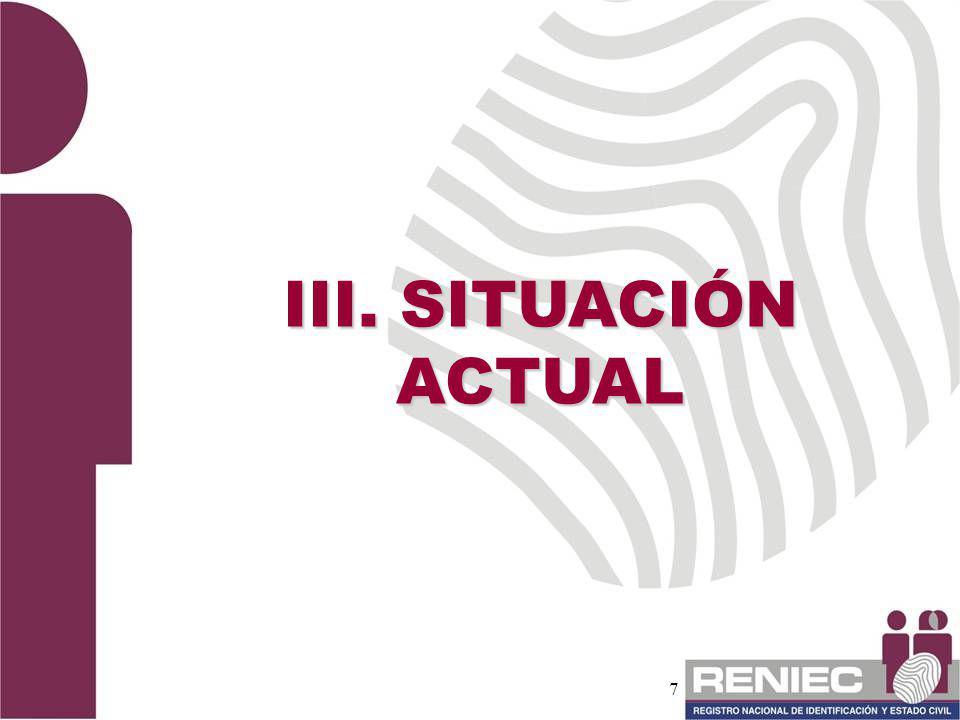 7 III. SITUACIÓN ACTUAL