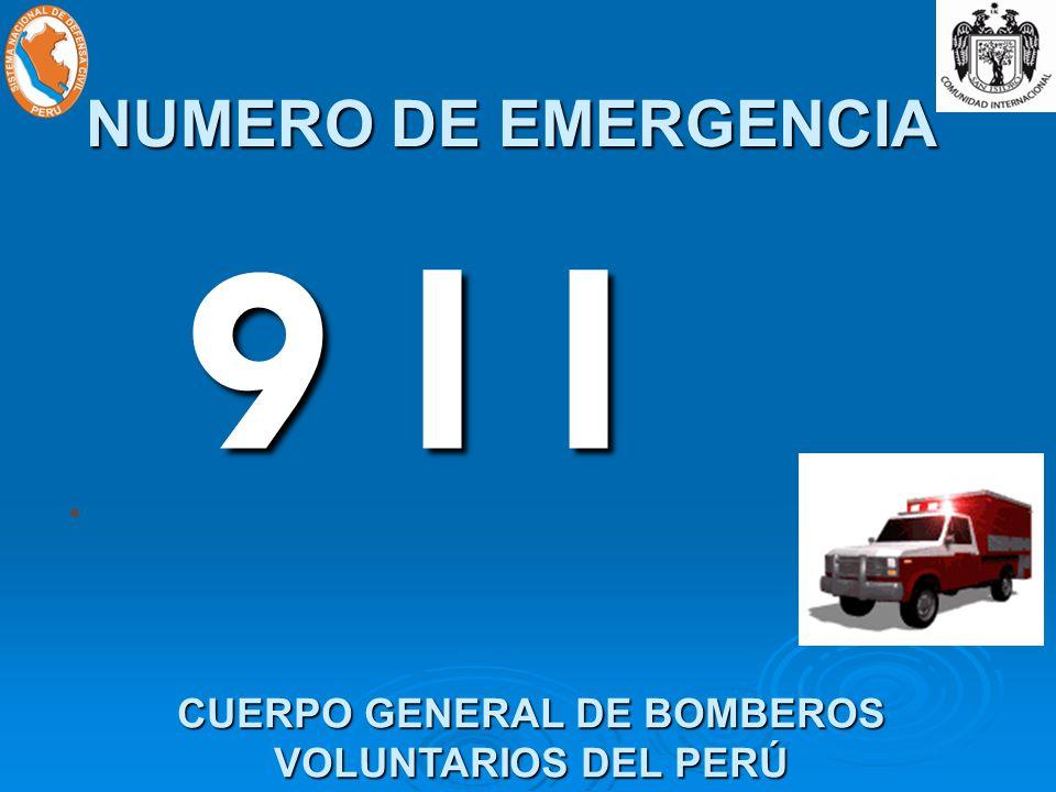 9 I I CUERPO GENERAL DE BOMBEROS VOLUNTARIOS DEL PERÚ