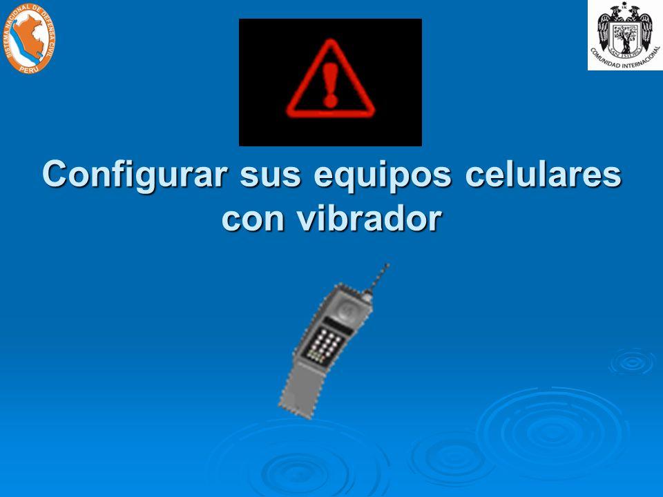Configurar sus equipos celulares con vibrador