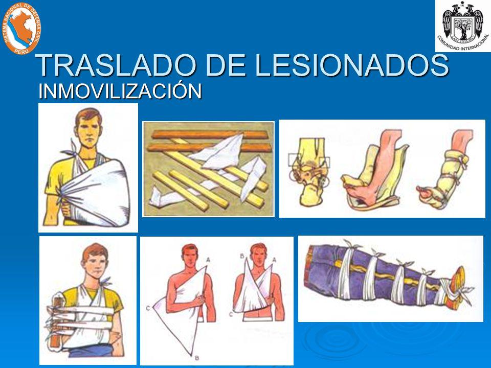 TRASLADO DE LESIONADOS INMOVILIZACIÓN