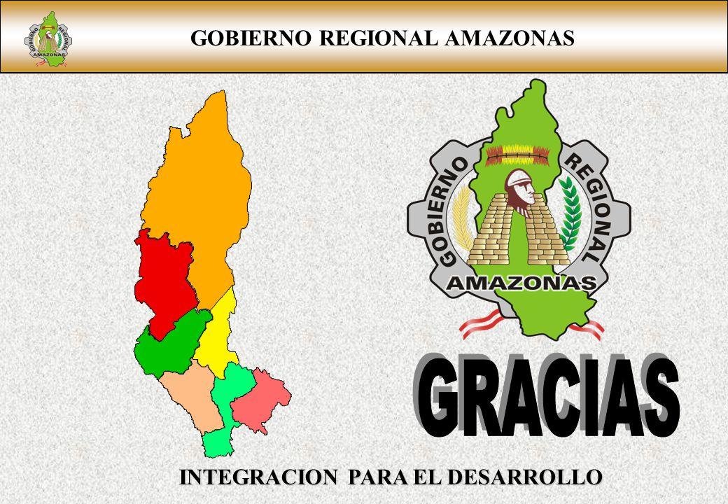 GOBIERNO REGIONAL AMAZONAS INTEGRACION PARA EL DESARROLLO