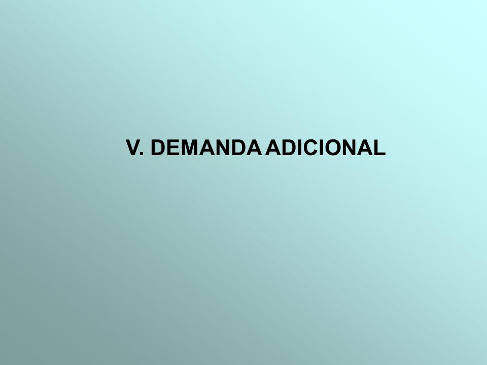 V. DEMANDA ADICIONAL
