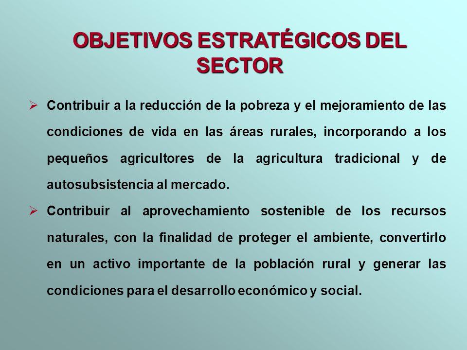Contribuir a la reducción de la pobreza y el mejoramiento de las condiciones de vida en las áreas rurales, incorporando a los pequeños agricultores de