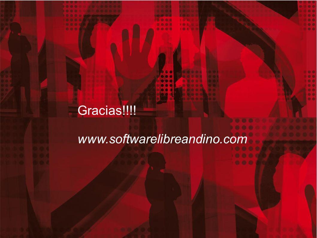 19 Gracias!!!! www.softwarelibreandino.com