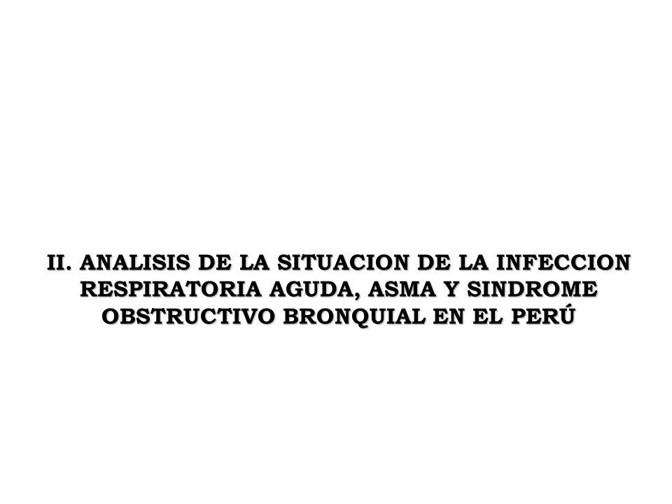 II. ANALISIS DE LA SITUACION DE LA INFECCION RESPIRATORIA AGUDA, ASMA Y SINDROME OBSTRUCTIVO BRONQUIAL EN EL PERÚ