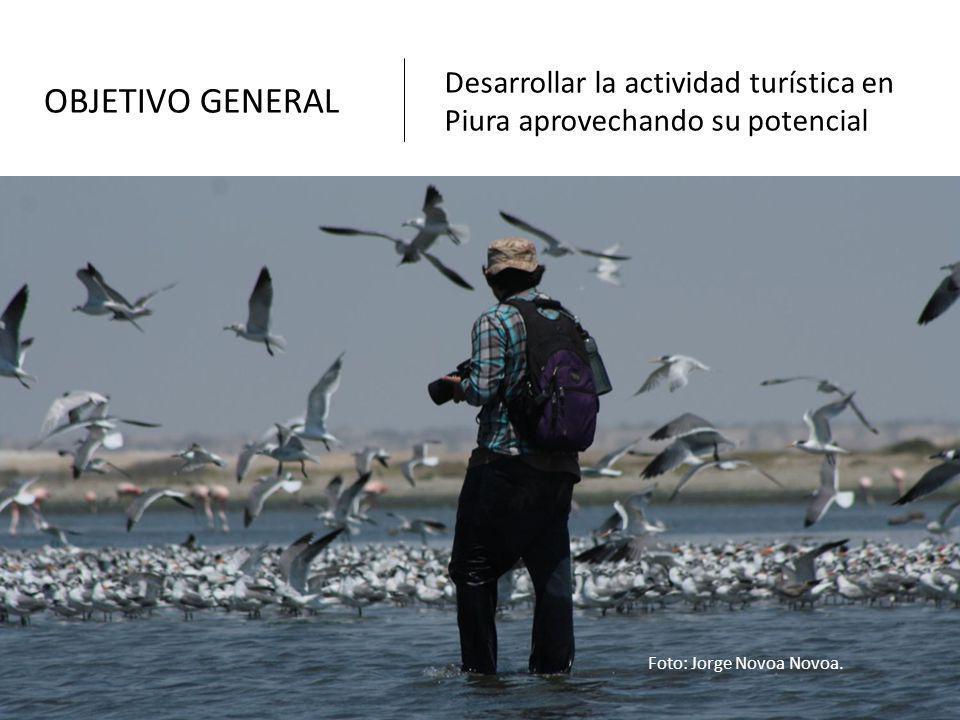 OBJETIVO GENERAL Desarrollar la actividad turística en Piura aprovechando su potencial Foto: Jorge Novoa Novoa.