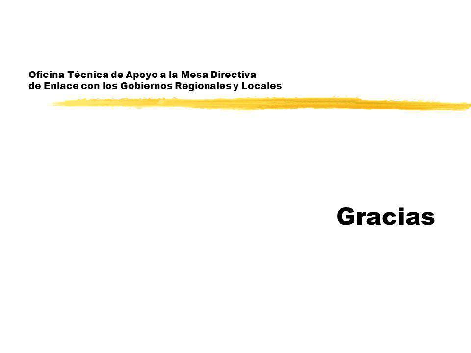 Oficina Técnica de Apoyo a la Mesa Directiva de Enlace con los Gobiernos Regionales y Locales Gracias