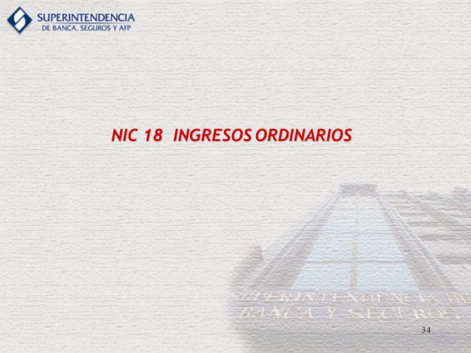 34 NIC 18 INGRESOS ORDINARIOS