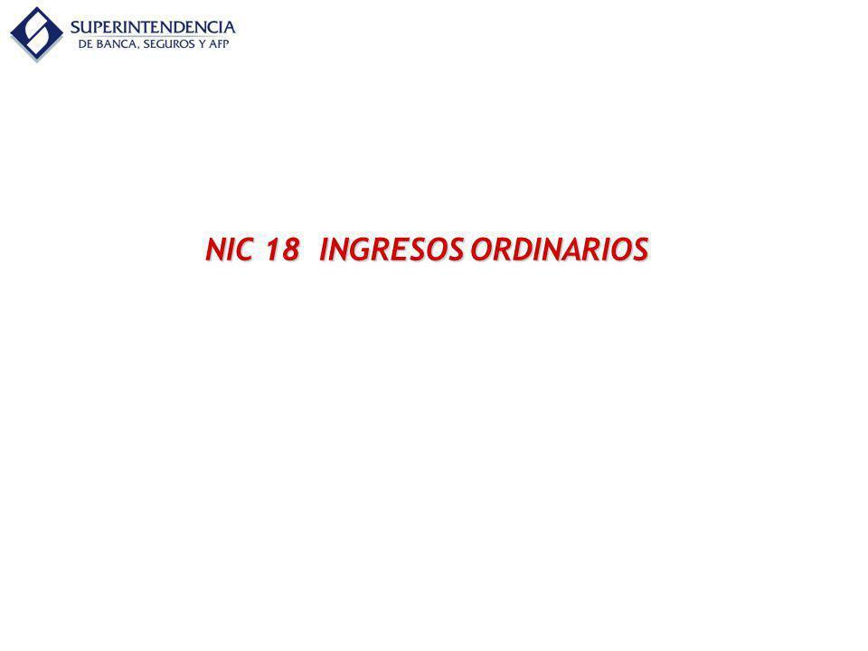 NIC 18 INGRESOS ORDINARIOS