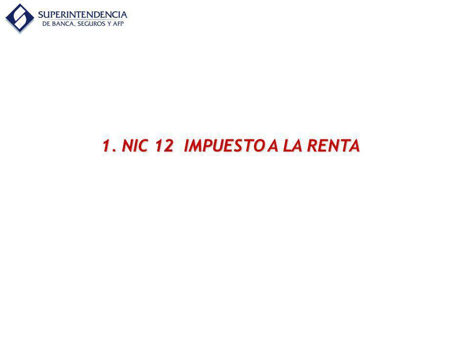 NIC 12 IMPUESTO A LA RENTA NIC 12MANUAL DE CONTABILIDAD 1.