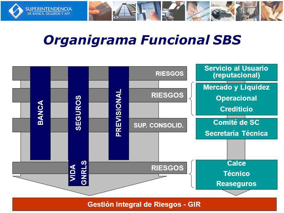 RIESGOS Organigrama Funcional SBS RIESGOS SUP.CONSOLID.