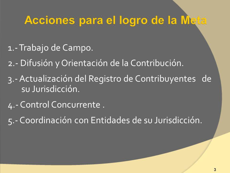 3 1.- Trabajo de Campo. 2.- Difusión y Orientación de la Contribución.