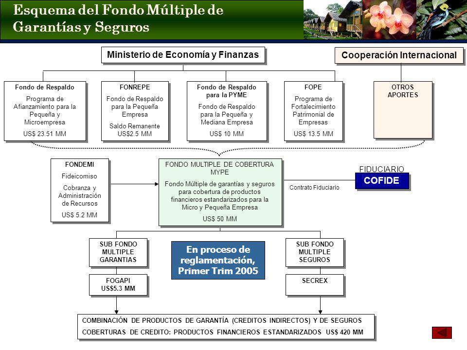 Esquema del Fondo Múltiple de Garantías y Seguros FIDUCIARIO Contrato Fiduciario Fondo de Respaldo Programa de Afianzamiento para la Pequeña y Microem