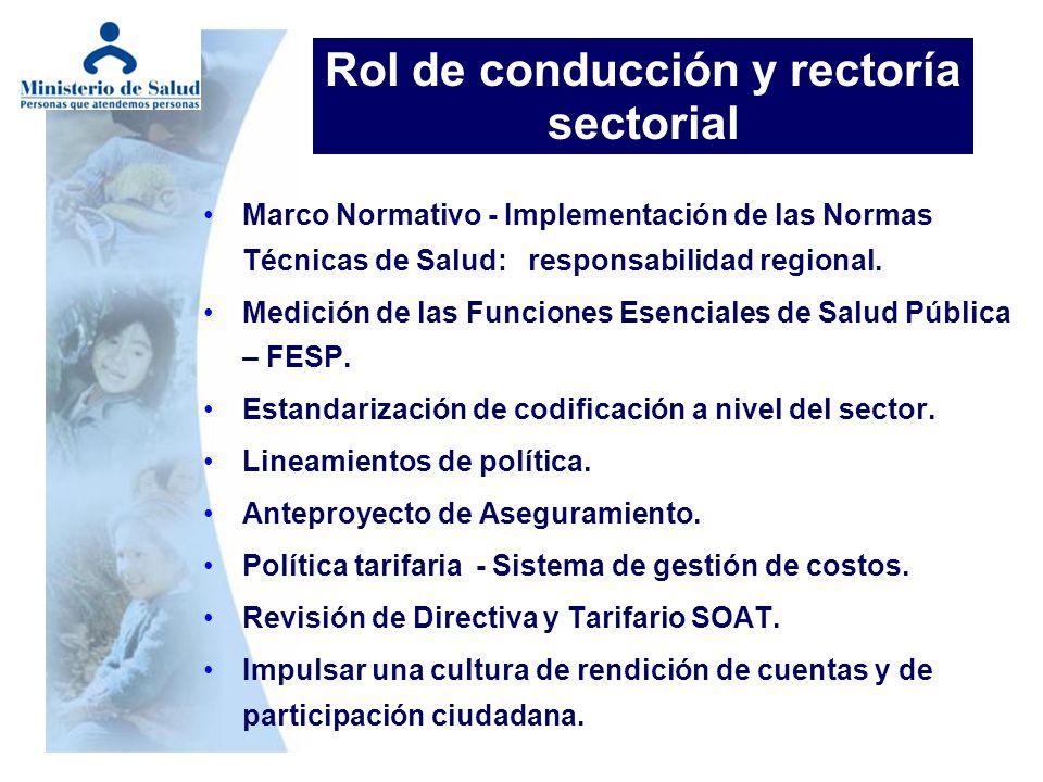 Marco Normativo - Implementación de las Normas Técnicas de Salud: responsabilidad regional. Medición de las Funciones Esenciales de Salud Pública – FE