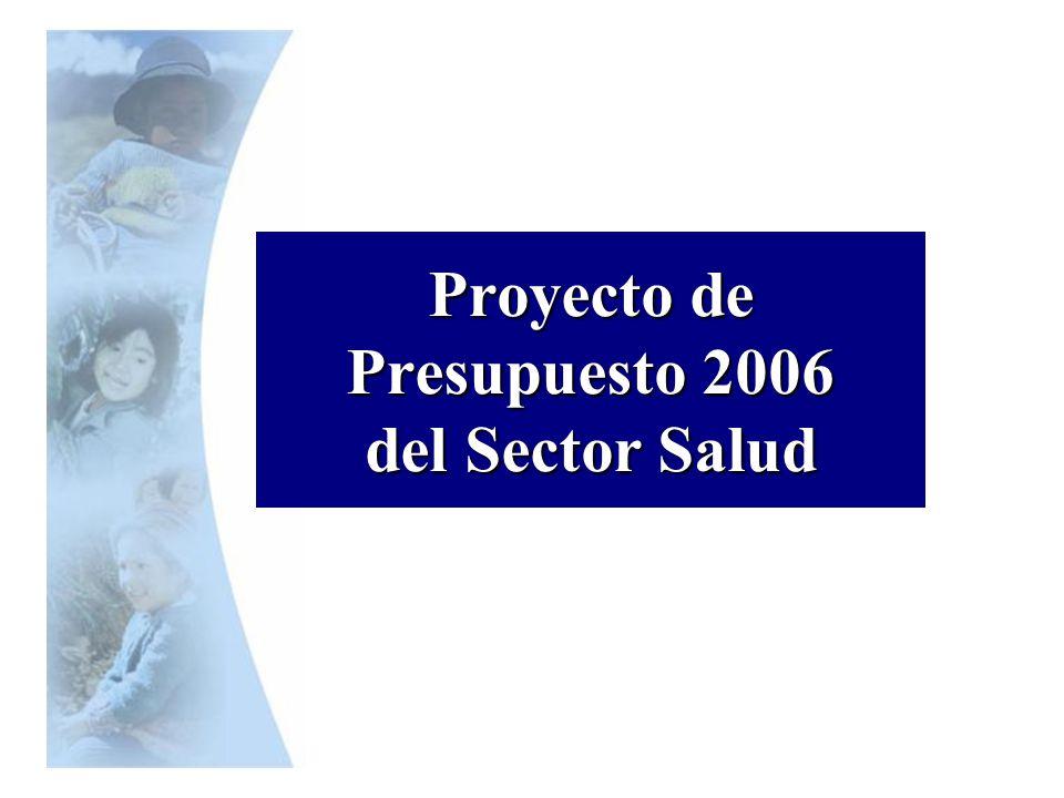 Proyecto de Presupuesto 2006 del Sector Salud